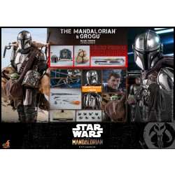 Hot Toys The Mandalorian 1/6 Scale The Mandalorian and Grogu Deluxe Version Collectible Set