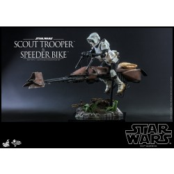 Hot Toys Star Wars: Return of the Jedi 1/6 Scale Scout Trooper and Speeder Bike Set