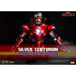 Hot Toys 鐵甲奇俠3 1:6比例合金 Silver Centurion Armor Suit Up Version