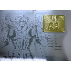 Saint Cloth Myth Gold Gemini Saga new metal plate