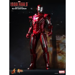 Hot Toys Iron Man 3 1/6 Scale Mark 33 (XXXIII) Silver Centurion (FREE shipping)