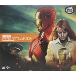 Hot Toys 鐵甲奇俠 3: 1/6 Pepper Potts & Mark IX Set with Mark VII illuminating helmet 2015 香港動漫電玩節限定 (FREE shipping)