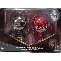 Hot Toys Justice League Batman and The Flash Metallic Color Version Set (FREE shipping)