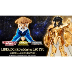 p-Bandai HK Saint Seiya Myth Cloth EX Libra Dohko & Sensei Original Color Edition