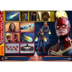 Hot Toys Captain Marvel 1/6 Scale Captain Marvel Deluxe Version
